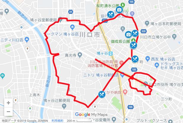 ハートの GPSアート