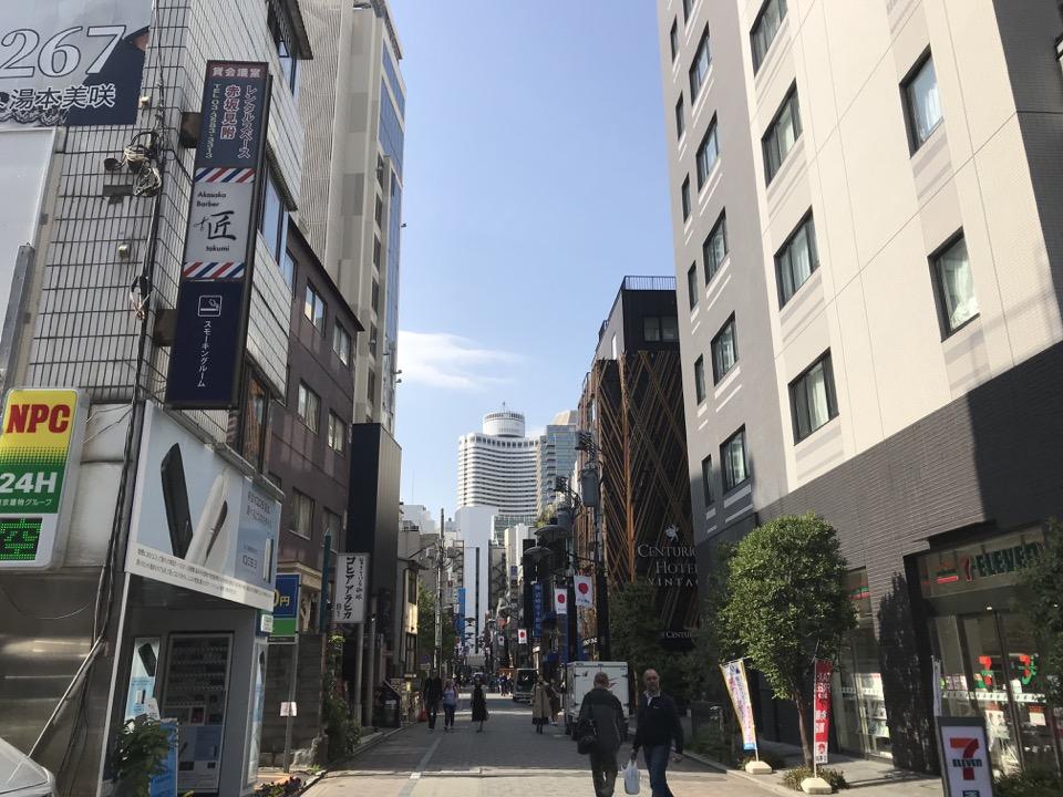 赤坂の商店街