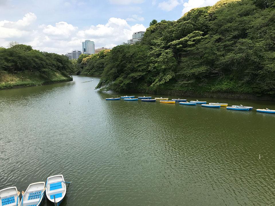千鳥ヶ淵公園のボート乗り場