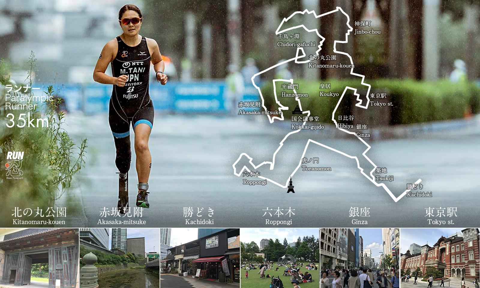GPSアート:パラリンピックランナー