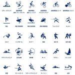 東京オリンピック2020ピクトグラム