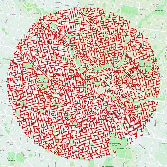 GPSアートの円